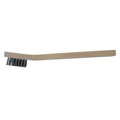 ANCHOR BRAND Inspection Brushes, 3 x 7 Rows, Stainless Steel Bristles/Straight Plastic Handle