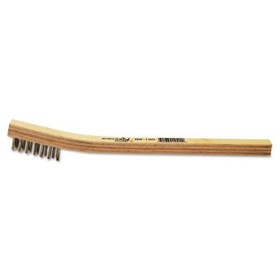ANCHOR BRAND Inspection Brushes, 3 x 7 Rows, Carbon Steel Wire, Bent Wood Handle