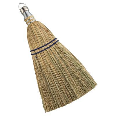 ANCHOR BRAND Whisk Broom, 10 in Trim L, 100% Broom Corn Fill