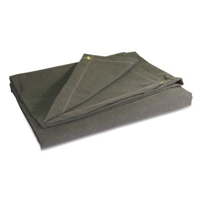 ANCHOR BRAND Protective Tarps, 16 ft Long, 12 ft Wide, Canvas, Olive Drab