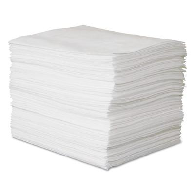ANCHOR BRAND Oil-Only Heavy-Weight Absorbent Pads, Absorbs 35 gal, 15 in x 19 in