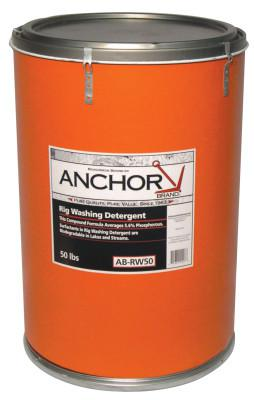 ANCHOR BRAND Detergents, 50 lb Drum