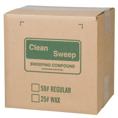 ANCHOR BRAND Wax-Based Floor Sweeping Compound, Green, 150 lb
