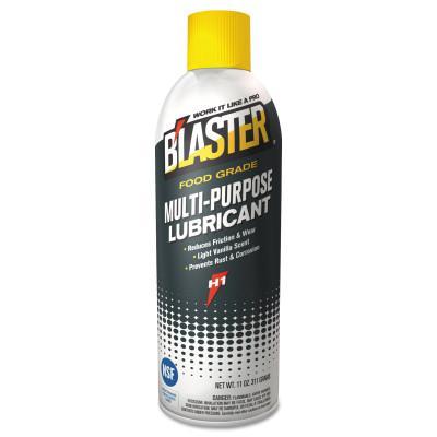 BLASTER Food Grade Multi-Purpose Lubricants, 11 oz, Aerosol, 6/Case