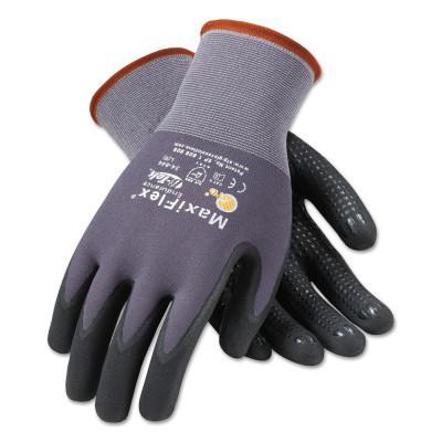PIP MaxiFlex Endurance Gloves, Medium, Black/Gray, Palm and Finger Coated