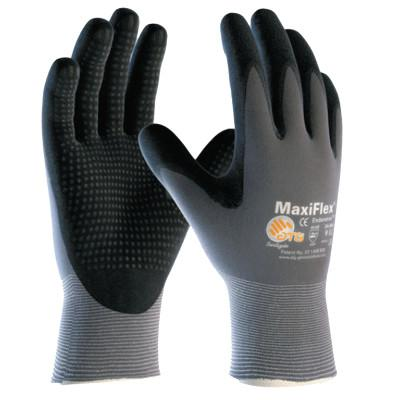 PIP MaxiFlex Endurance Gloves, Large, Black/Gray, Palm and Finger Coated