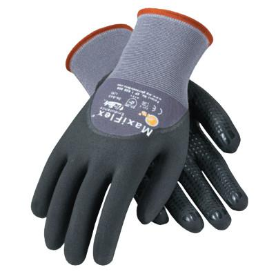 PIP MaxiFlex Endurance Gloves, Medium, Black/Gray, Palm, Finger and Knuckle Coated