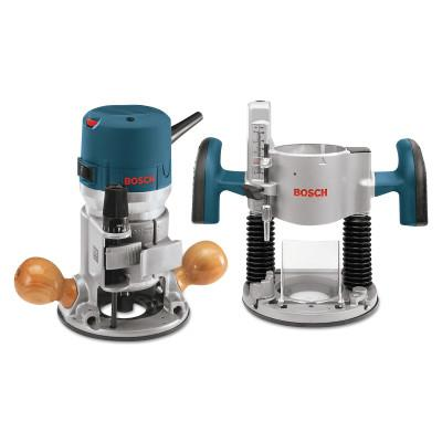 BOSCH POWER TOOLS 2 HP PLUNGE/FIXED BASEVS ROUTER COMBO KIT