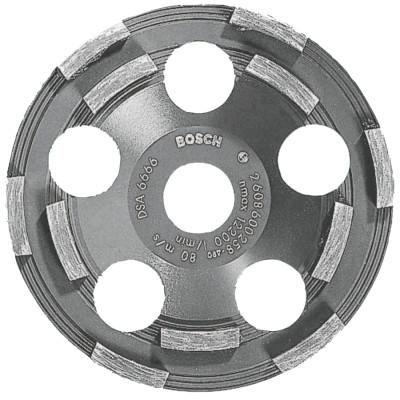 """BOSCH POWER TOOLS 5 In. Double Row Segmented Diamond Cup Wheel for Coating, 7/8"""" Arbor, 12,200 rpm"""