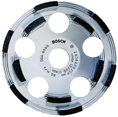BOSCH POWER TOOLS 5 in. Double Row Diamond Cup Wheel, 7/8 in Arbor, Grit, 12,200 rpm