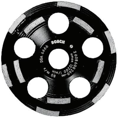 "BOSCH POWER TOOLS 5"" Double Row Segmented Diamond Cup Wheel for Concrete, 7/8"" Arbor, 12,200 rpm"