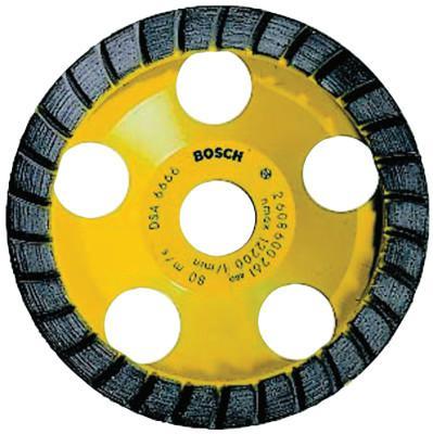 BOSCH POWER TOOLS 5 in. Turbo Row Diamond Cup Wheel, 7/8 in Arbor, 12,200 rpm