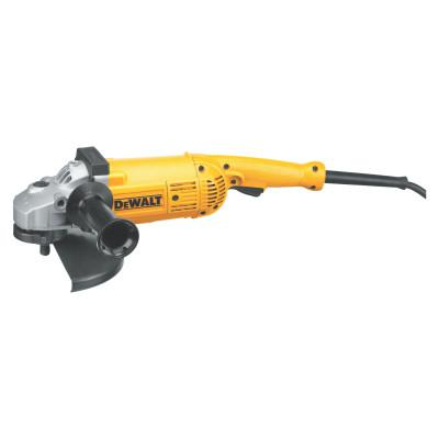 DEWALT 5.3HP Large Angle Grinders, 7 in; 9 in Dia, 15 A, 6,000 rpm, Lock-On; Trigger