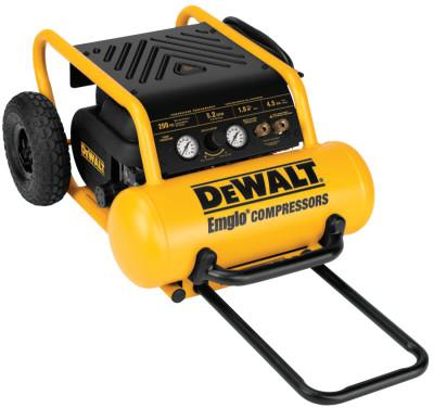 DEWALT HEAVY DUTY 200 PIS 4.5 GALLON ELECTRIC AIR COMPR