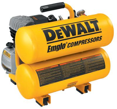 DEWALT 4 H.P. 4 GALLON TWIN STACK AIR COMP. ELECTRIC