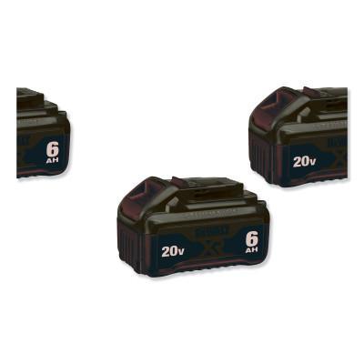 DEWALT 20.0V Li-Ion Battery, 6.0Ah Capacity, 2PK