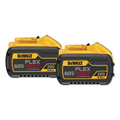 DEWALT 20.0/60.0V Li-Ion Battery, 9.0Ah Capacity, 2PK