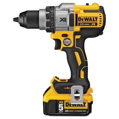 DEWALT 20V MAX XR Lithium Ion Brushless Drill/Driver Kit, 1/2 in Chuck, Spotlight Mode