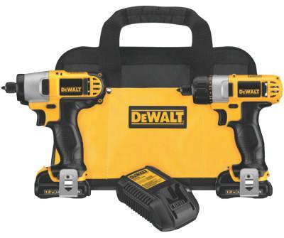 DEWALT 12V MAX Cordless Combo Kits, DCF610 1/4 Screwdriver;DCF815, 1/4 Impact Driver