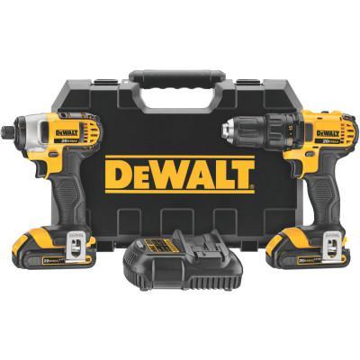 DEWALT 20V MAX Cordless Combo Kits, DCD780 1/2 Drill/Driver; DCF885 1/4 Imp Driver