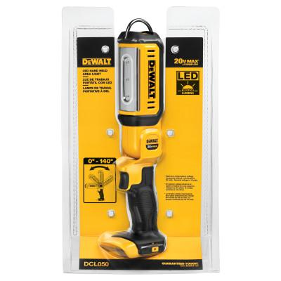 DEWALT LED Hand Held Area Lights, 250/500 Lumens, Yellow/Black