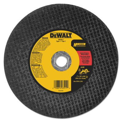 DEWALT Metal Abrasive Saw Blades, Type 1, 7 in, 5/8 in Arbor, A24R Grit, 8,700 rpm