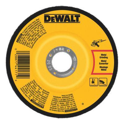 DEWALT Type 27 Depressed Center Wheels, 4 1/2 in, A24R Grit, 13,300 rpm, Aluminum Oxide