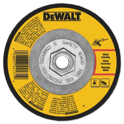 DEWALT Type 27 Depressed Center Wheels, 7 x 1/4 x 5/8 in-11, A24R Grit, Aluminum Oxide