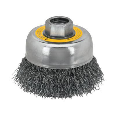DEWALT Cup Brushes, 5 in Dia., 5/8 in - 11 Arbor, 0.014 in, Carbon Steel Wire