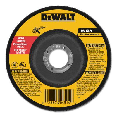 DEWALT Type 27 Depressed Center Wheels, 6 x 1/4 x 7/8, A24R Grit, Aluminum Oxide