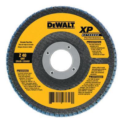 DEWALT Type 27 XP High Density Flap Discs, 7 in Dia, 5/8 in Arbor, 80 Grit, 8,700 rpm