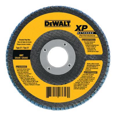 DEWALT Type 29 HP Flap Discs, 7 in Dia., 80 Grit, 5/8 in - 11, 8700 RPM