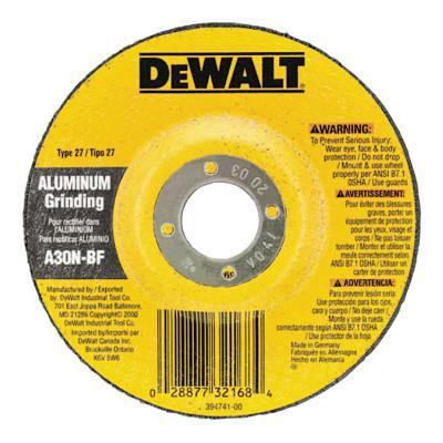 "DEWALT 9""X1/4""X8/5""-11 ALUMINUMGRINDING WHEEL"