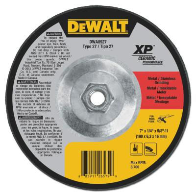 DEWALT Grinding Wheel, 7 in Dia, 1/4 in Thick, 5/8 in Arbor, 24 Grit Ceramic