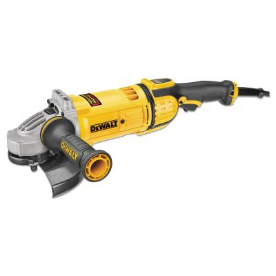 DEWALT 4.9HP Large Angle Grinders, 7 in Dia, 15 A, 8,500 rpm, Lock-On; Trigger