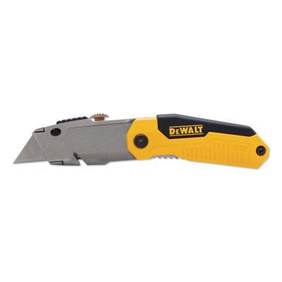 DEWALT Folding Retractable Utility Knife, 6-1/4 in L, Stainless Steel Blade, Metal
