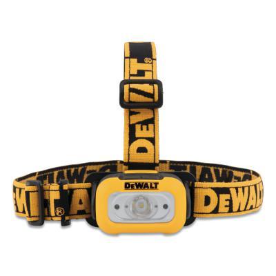 DEWALT LED Headlamp, 3 AAA, 200 Lumens, Black/Yellow