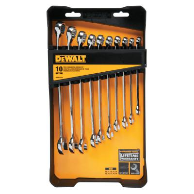 DEWALT 10 Piece Combination Wrench Sets, Metric