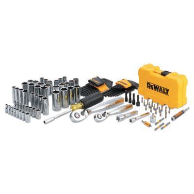 DEWALT Mechanics Tools Set, 108 pc, 1/4 in and 3/8 in Drive
