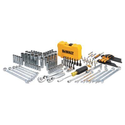 DEWALT Mechanics Tools Set, 142 pc, 1/4 in and 3/8 in Drive