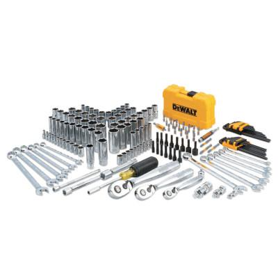 DEWALT Mechanics Tools Set, 168 pc, 1/4 in, 1/2 in and 3/8 in Drive