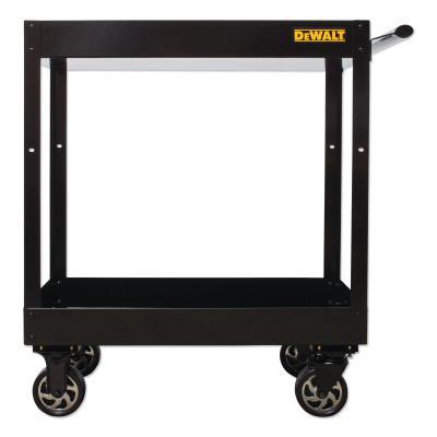 POWERS BY DEWALT Utility Cart, 500lbs capacity, Two Shelf, 32w x 16.20d x 38h, Black