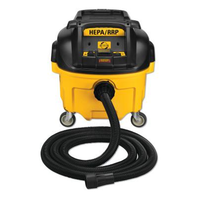 DEWALT Dust Extractors, 10 gal, Includes Anti-Static Hose and HEPA Filters