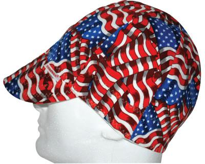 COMEAUX CAPS Deep Round Crown Caps, One Size Fits All, Stars & Stripes