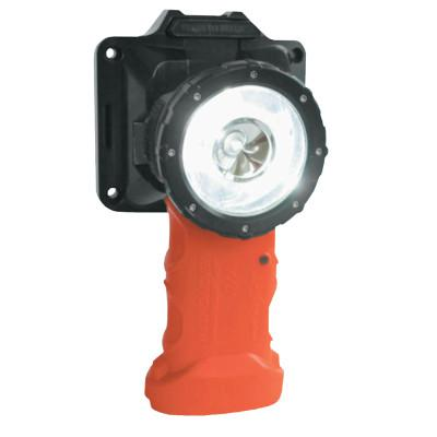 BRIGHT STAR Responder Right Angle LED Lights with Lithium Ion Technology, Safety Orange