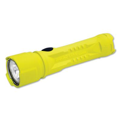 BRIGHT STAR Razor LED Flashlights, 3 AA Batteries, 325 Lumens, Yellow