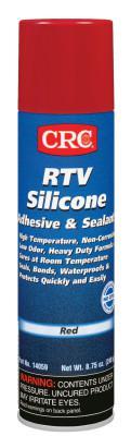 CRC RTV Silicone Adhesive/Sealants, 8 oz Pressurized Tube, Red