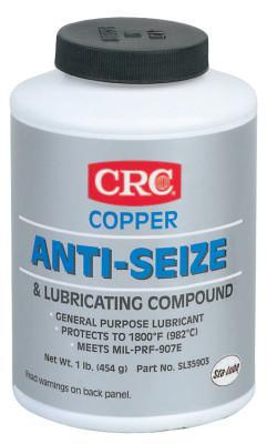 CRC Copper Anti-Seize Lubricants, 16 oz Brush Top Bottle