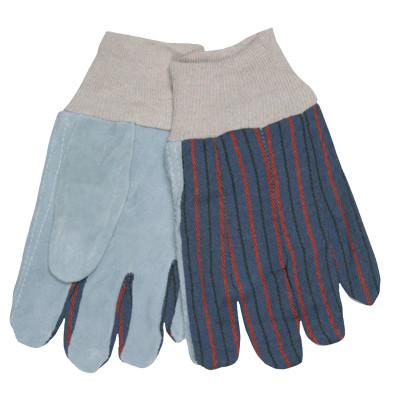 MEMPHIS GLOVE Split Shoulder Clute Pattern Gloves, Large, Gray/Blue Gray with Red/Blue Stripes