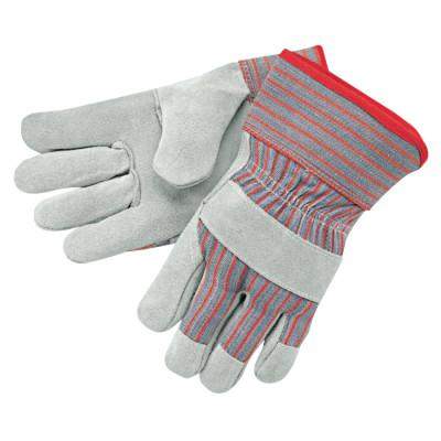 MEMPHIS GLOVE Industrial Standard Shoulder Split Gloves, X-Large, Leather, Red and Gray Fabric